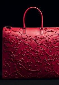 Valentino Scarlet Intricate Soutache Tote Bag Bag
