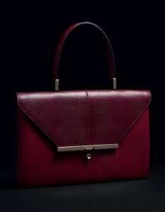 Valentino Scarlet Lizard Single Handle Bag