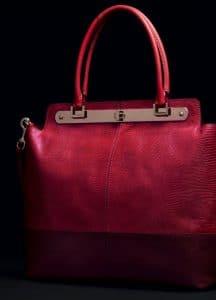 Valentino Scarlet Lizard Tote Bag