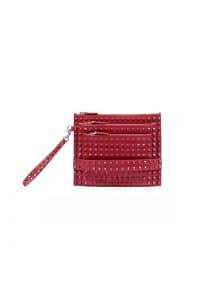 Vouge Rouge Rockstud Multi-zip Pouch Bag