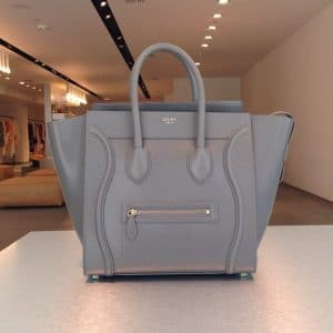 Celine Grey Mini Luggage bag