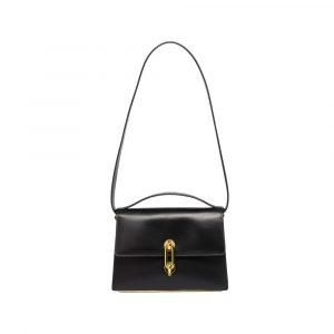 Balenciaga Black Maillon Mini Trapeze Bag