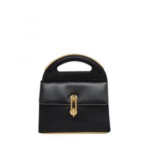Balenciaga Black Maillon Round Handle M Bag