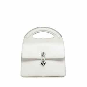 Balenciaga White Maillon Round Handle M Bag