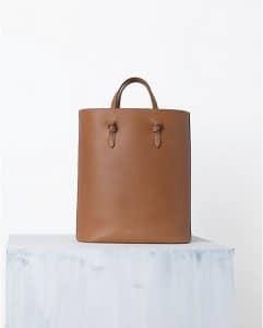 Celine Brown Calfskin Tie Cabas Bag - Spring 2014
