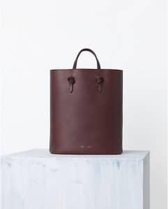 Celine Burgundy Tie Cabas Bag - Spring 2014