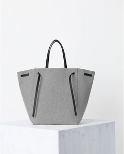 Celine Cabas Phantom Bag New Tie Felt Grey - Spring 2014