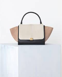 Celine Cream Tricolor Trapeze Bag - Spring 2014