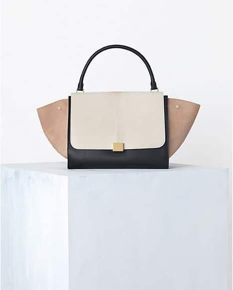 6724f7efc8 Celine Cream Tricolor Trapeze Bag - Spring 2014