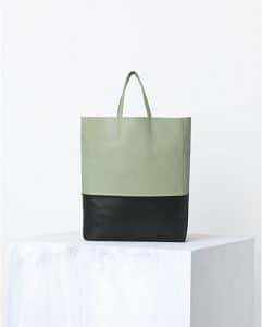 Celine Pistachio Green Bicolor Cabas Bag - Spring 2014