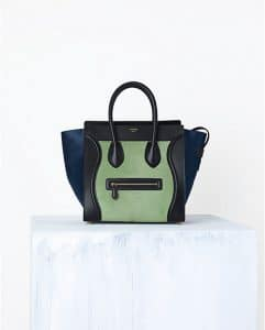 Celine Pistachio Green Mini Luggage Bag Pony - Spring 2014