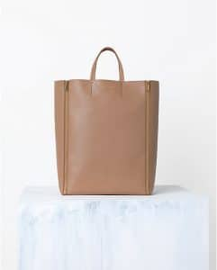Celine Praline Brown Vertical Zip Cabas bag - Spring 2014