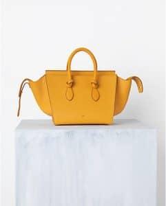 Celine Saffron Yellow Tie Tote Bag - Spring 2014