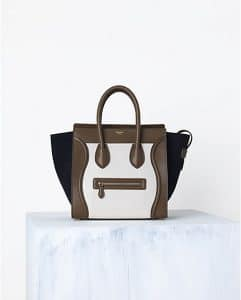 Celine Tricolor Textured Calf Mini Luggage Bag - Spring 2014