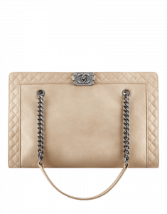 Chanel Beige Boy Chanel Reverso Shopping Bag
