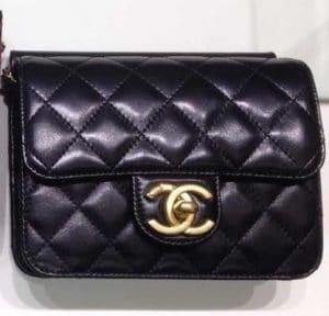 Chanel Black Crossing Times Flap Mini Bag