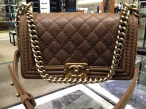 Chanel Brown Nubuck Boy Flap Medium Bag