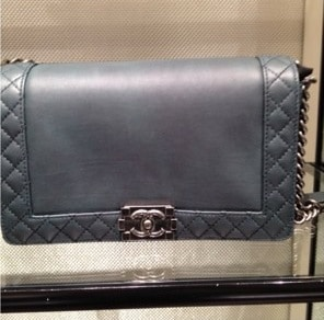 Chanel Dark Grey Boy Chanel Reverso Medium Bag