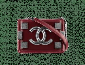 Chanel Dark Red Boy Brick Flap Bag