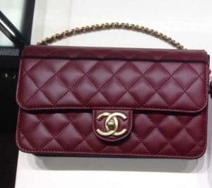 Chanel Dark Red Crossing Times Flap Medium Bag
