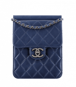 Chanel Navy Blue Crossing Times Flap Mini Bag