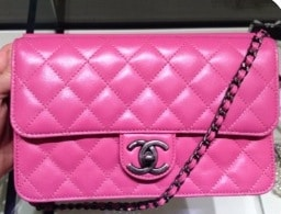 Chanel Fuchsia Crossing Times Flap Bag