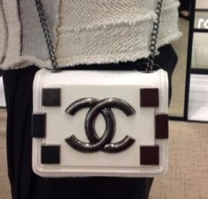 Chanel White Boy Brick Flap Bag