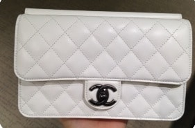 Chanel White Crossing Times Flap Bag