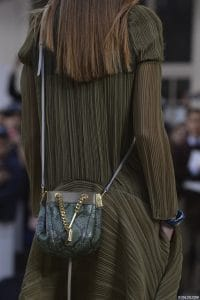 Chloe Green Python Drawstring Mini Bag - Runway Spring 2014
