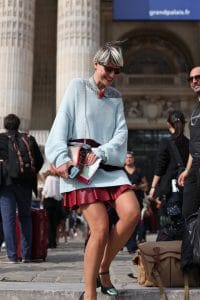Elisa Nalin spotted during Paris Fashion Week Spring 2014