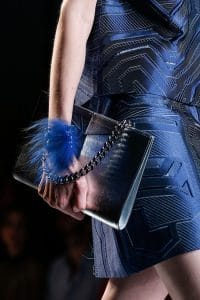 Fendi Black/Blue Ombre Chain Shoulder Bag - Runway Spring 2014