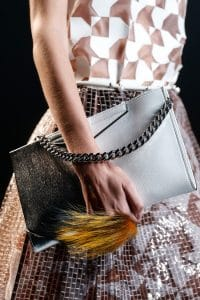 Fendi Black/White Chain Shoulder Bag - Runway Spring 2014