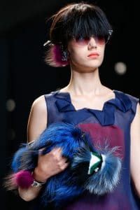 Fendi Blue Fur Clutch Bag - Runway Spring 2014