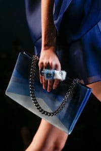 Fendi Blue Multicolor Chain Shoulder Bag - Runway Spring 2014