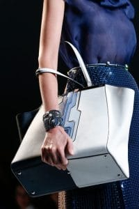 Fendi Blue/White 2Jours Bag - Runway Spring 2014