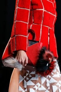 Fendi Red/Silver 2Jours Small Bag - Runway Spring 2014