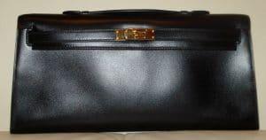 Hermes Black Kelly Longue Bag