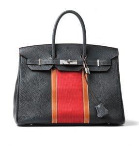 Hermes Black/Red Birkin Bag - Fall 2012