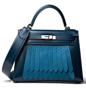 Hermes Blue Kelly Sellier Golf Bag - Spring 2013