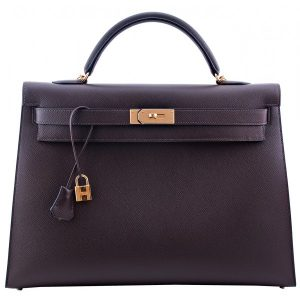 Hermes Chocolate Brown Kelly 40cm Bag