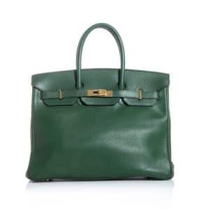 Hermes Dark Green Birkin 35 Bag