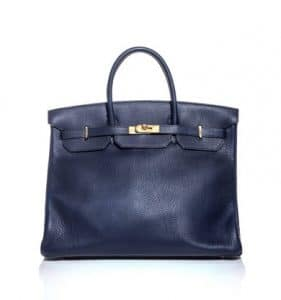 Hermes Navy Birkin 40cm Bag