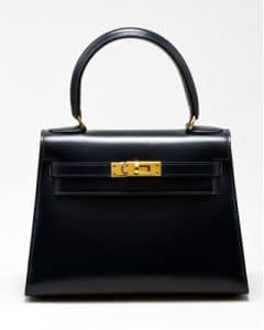 Hermes Navy Kelly 20cm Bag