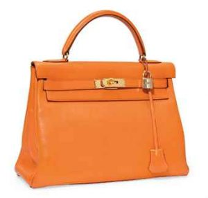 Hermes Orange Kelly 32cm Bag
