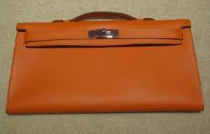 Hermes Orange Kelly Longue Bag