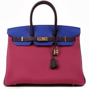 Hermes Tri-color Togo Birkin 35cm Bag