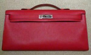 Hermes Vermillion Kelly Longue Bag