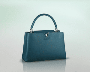 Louis Vuitton Bleu Canard Capucines MM Bag