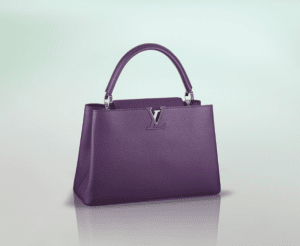 Louis Vuitton Purple Capucines MM Bag