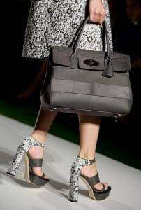 Mulberry Black Bayswater with Stripes Bag - Runway Spring 2014